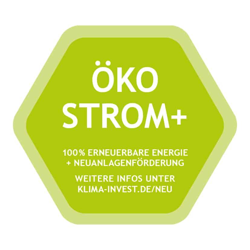 KlimaINVEST Ökostrom Label